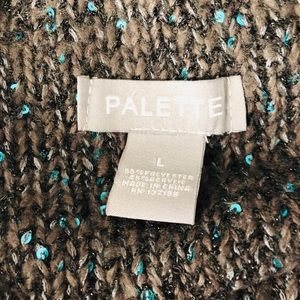 PALETTE Sweaters - ‼️Last One‼️PALETTE Charcoal/Green TurtleNeck Swtr